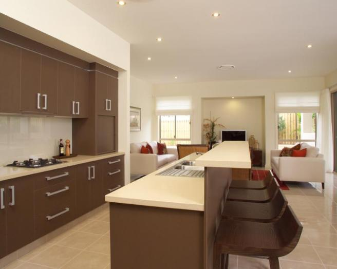 Contemporary Breakfast Bar Design (Image 2 of 10)