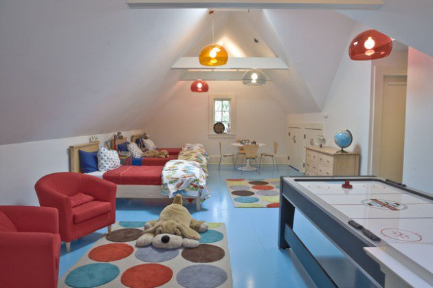 Converted Attic To Beauti Kids Play Room (Image 4 of 10)
