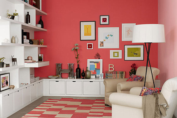 Coral In A Modern Living Space (Image 7 of 10)