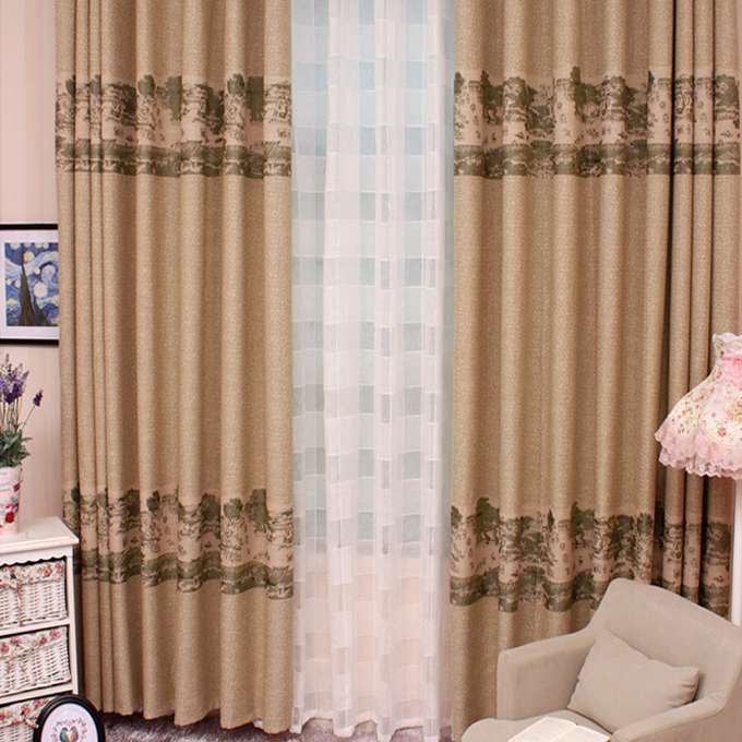Cotton Modern Geometric Curtains (View 10 of 10)