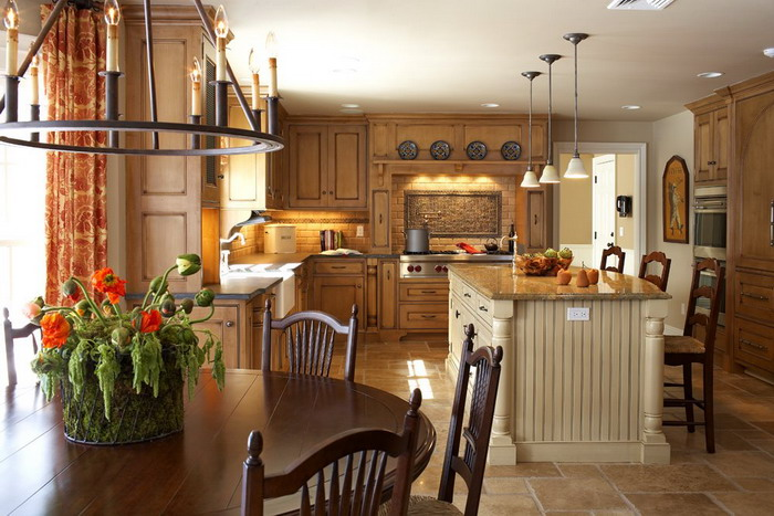 Country Kitchen Interior Decoration Ideas Image 6 Of 10