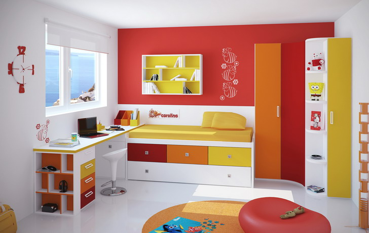 cute bedroom ideas with colorful furniture photo 3 of 10