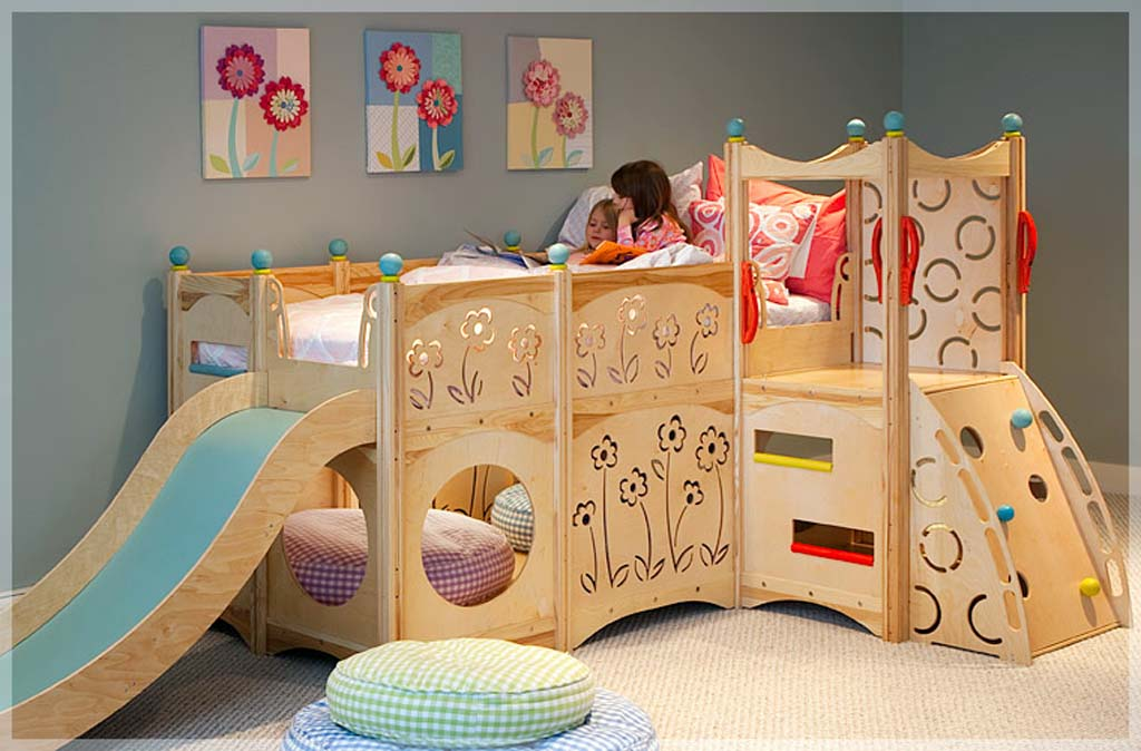 Cute Furniture Creative Kids Playbed Bedroom Interior (View 6 of 10)