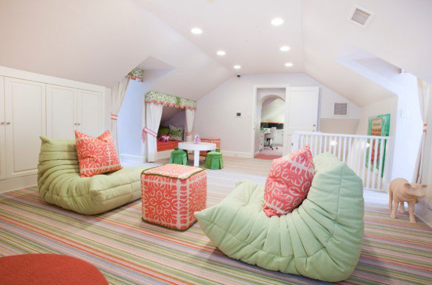 Cute Kids Play Room On The Attic (Image 6 of 10)