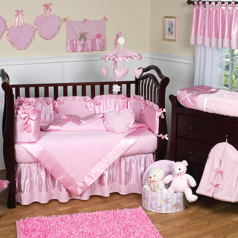 Girly Pink Nursery Decor: Cute Baby Nursery Furniture Sets Rooms #1982