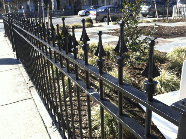 Elegan Wrought Iron Fence (Image 6 of 10)