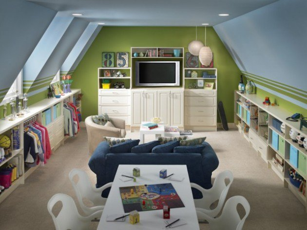 Elegant Kids Play Room On The Attic (Image 7 of 10)