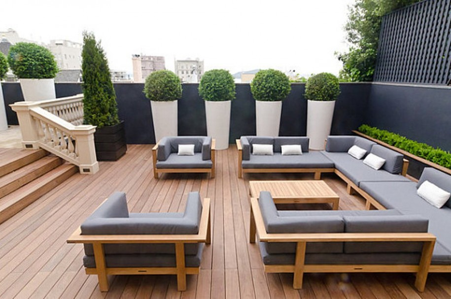 Excellent Minimalist Outdoor Furniture For Exterior Design (View 1 of 9)
