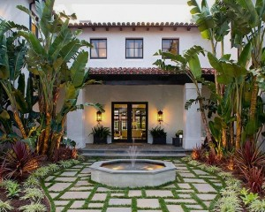 Exterior Of A New Construction Spanish Revival Style Home