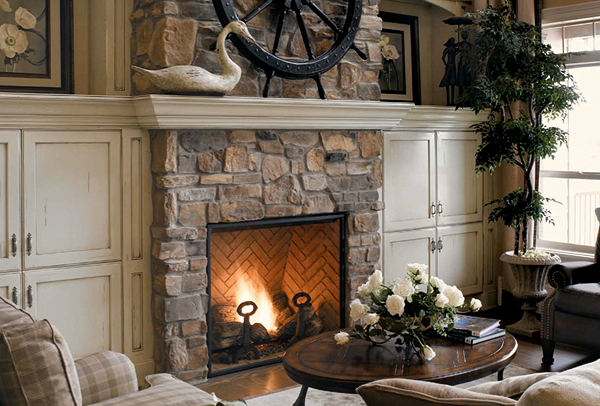 Fireplace Stone And Stacked Stone Veneer (Image 5 of 10)