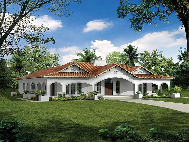 Florida style house plans 1747 exterior ideas Florida style home plans