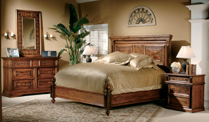 Bedroom Furniture From Exotic Wood 2571
