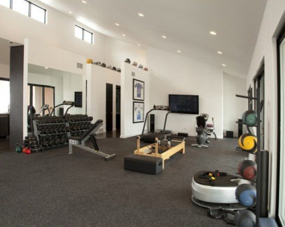 Interior: decorating your home gym #2 of 10 photos