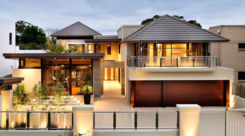 Garage: Attractive Garage Design for Modern House Exterior ...