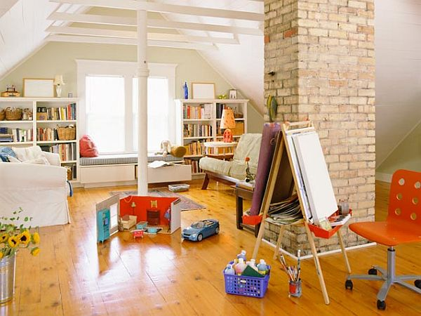 Large Kids Play Room On The Attic (Image 8 of 10)