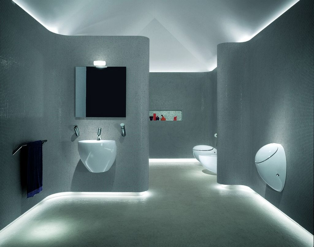 Luxury White Chromonome Bathroom  (Image 5 of 9)