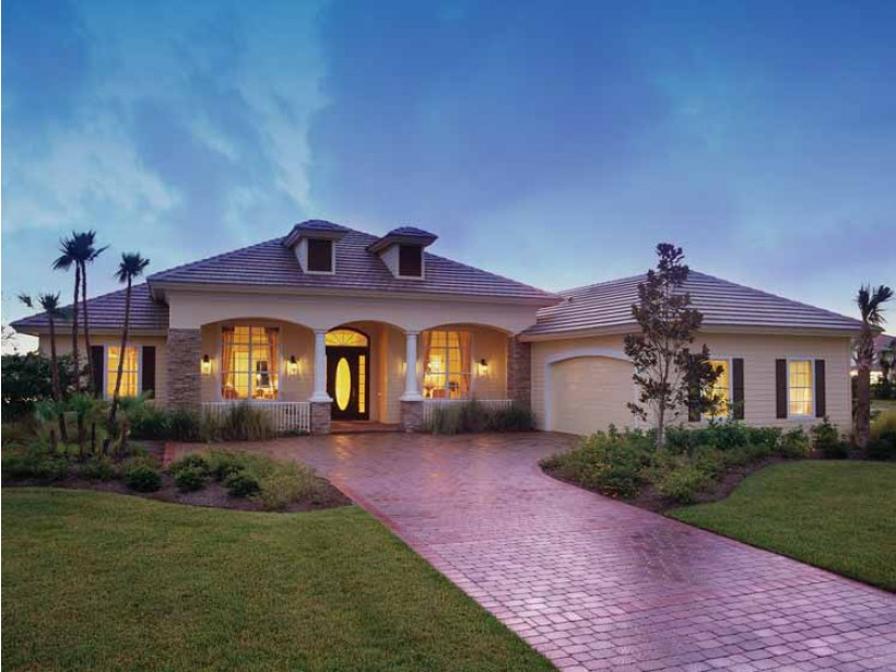 Florida style house plans 1747 house decoration ideas for Modern homes in florida