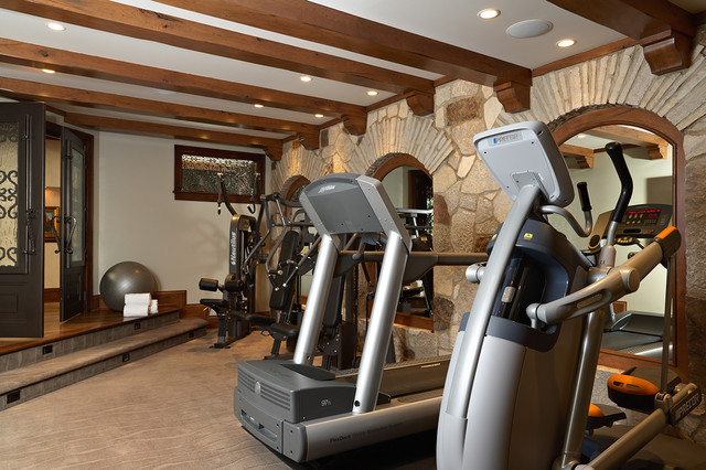 Mediterranean Home Gym On Second Floor (Image 4 of 10)