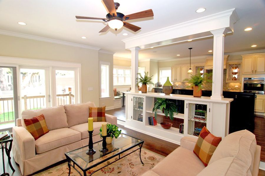 a ceiling fans at living room