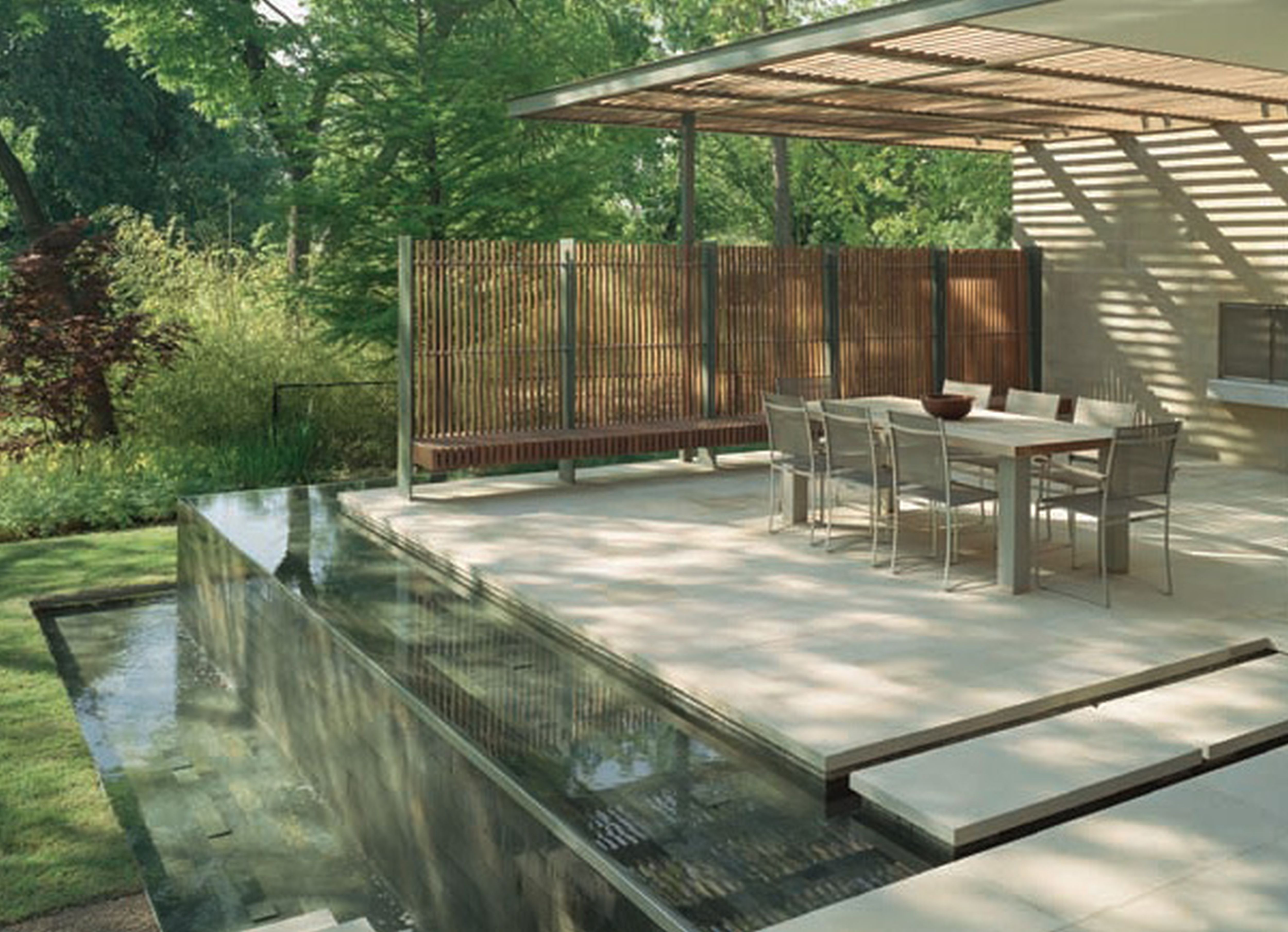 Modern Deck With Beautiful Lanscaping (Image 6 of 10)