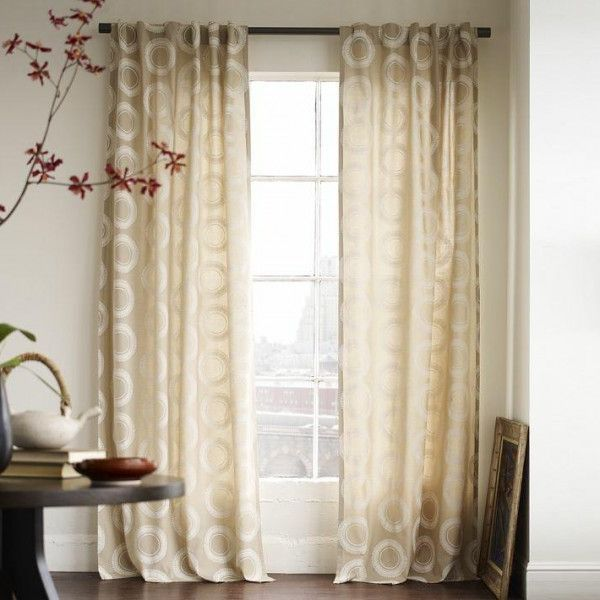 Modern Geometric Circle Drapes (View 3 of 10)