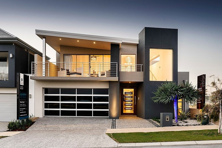Modern Home With Black White Garage Image 11 Of 11