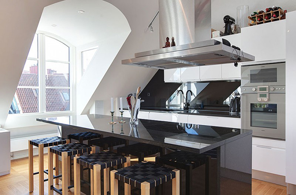 Modern Kitchen From Attic Design (Image 8 of 10)