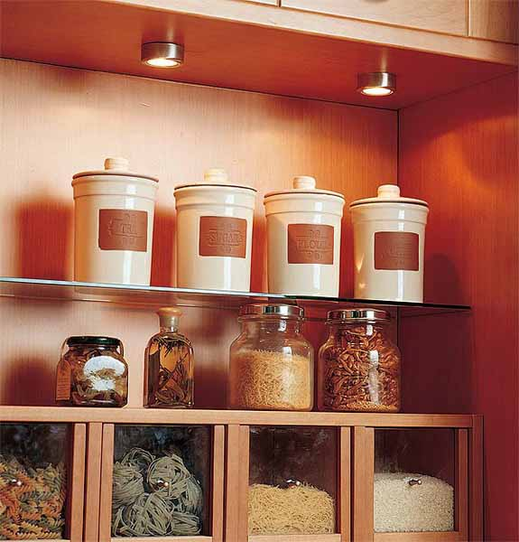 Modern Kitchen Light Shelves (Image 5 of 8)