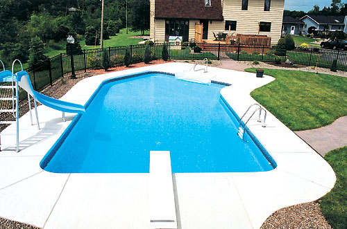 Modern Semi In Ground Pool (Image 6 of 10)