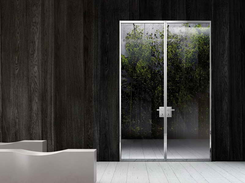 Modern Stainless Steel Exterior Swing Doors (Image 6 of 9)