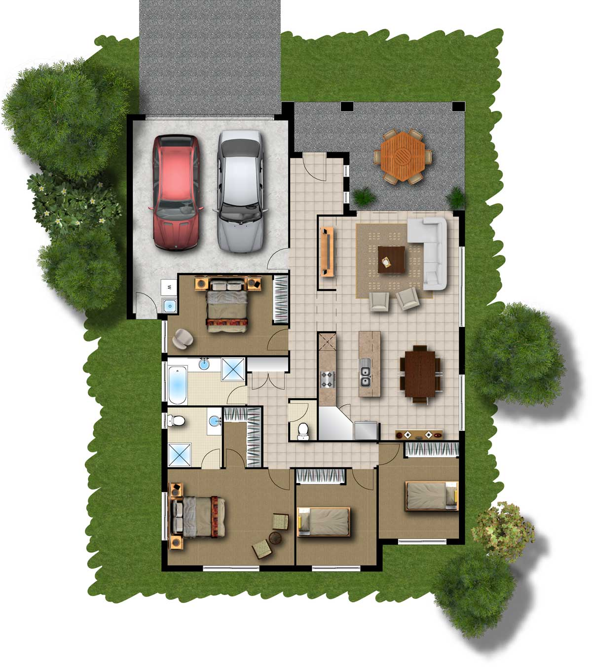 Multi Family House Small Simple Plan (Image 7 of 8)