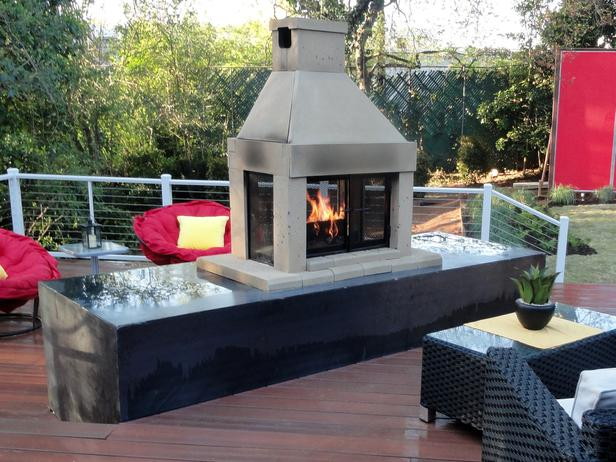 Natural Gas Outdoor Fireplace (Image 7 of 10)