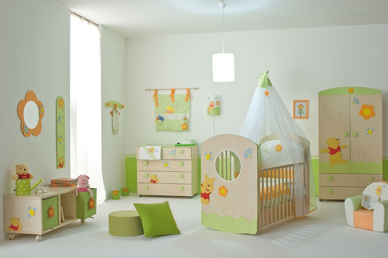 Nice Baby Nursery Furniture Set With Winnie The Pooh (Image 5 of 10)