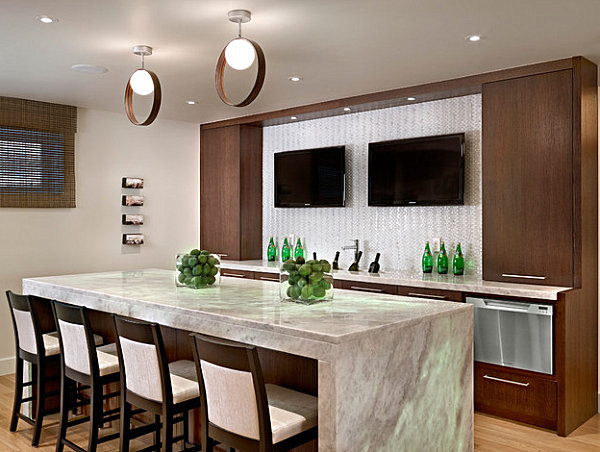 Featured Image of Cozy Modern Kitchen Breakfast Bar Designs