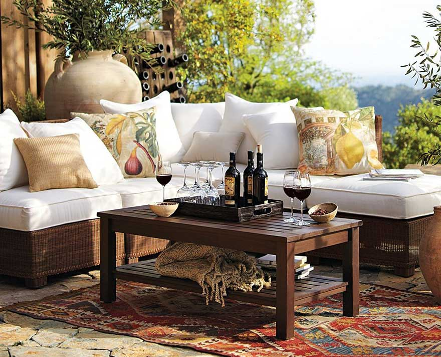 Old Rustic Wicker Outdoor Furniture Ideas (Image 5 of 9)