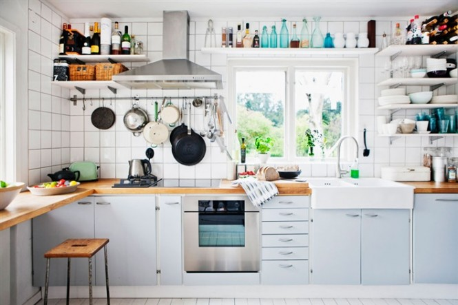 Open Kitchen Shelves Inspiration (Image 8 of 8)