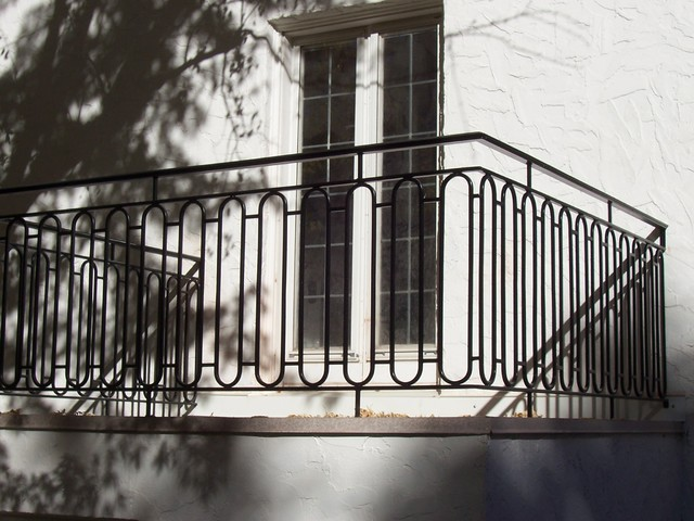 Outdoor Iron Railings Style (Image 8 of 10)