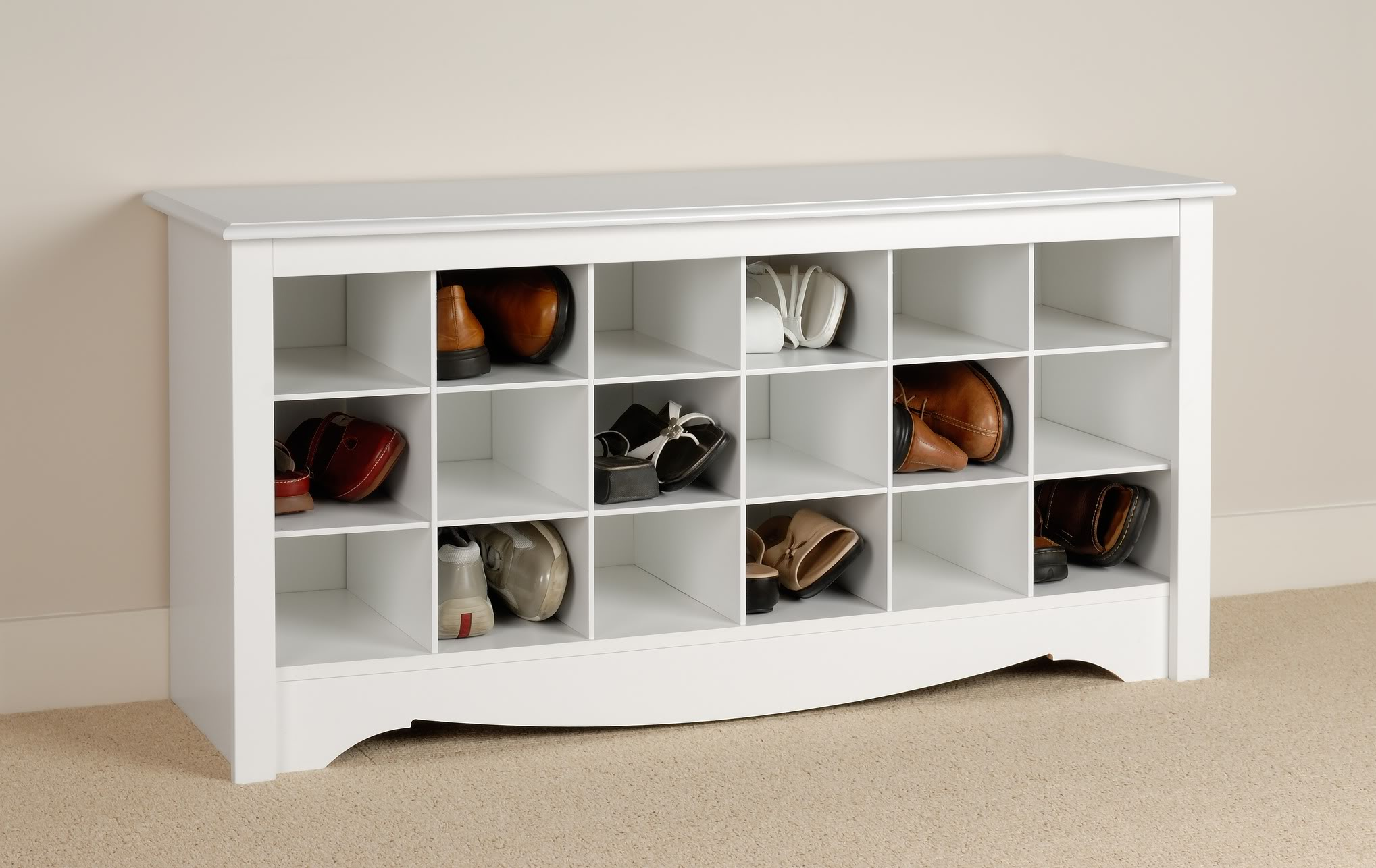 Prepac Shoe Storage Cubbies Bench (Photo 9 of 10)