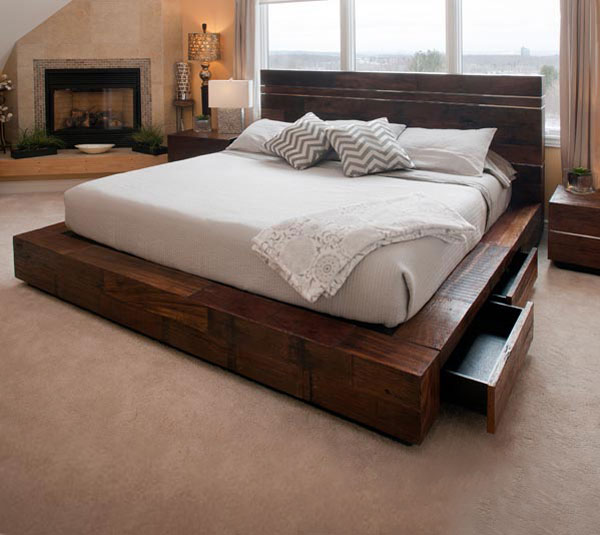 Reclaimed Wood Beds (View 5 of 10)