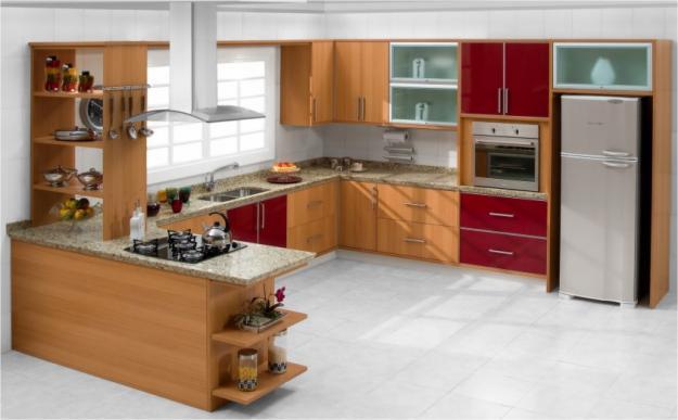 Red Kitchen Design Ideas Practical Modern Kitchen Display Interior (Image 6 of 10)