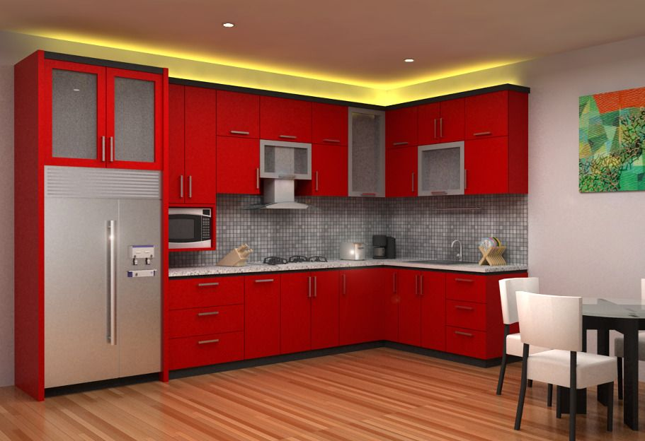 Red Kitchen Set (Image 8 of 8)