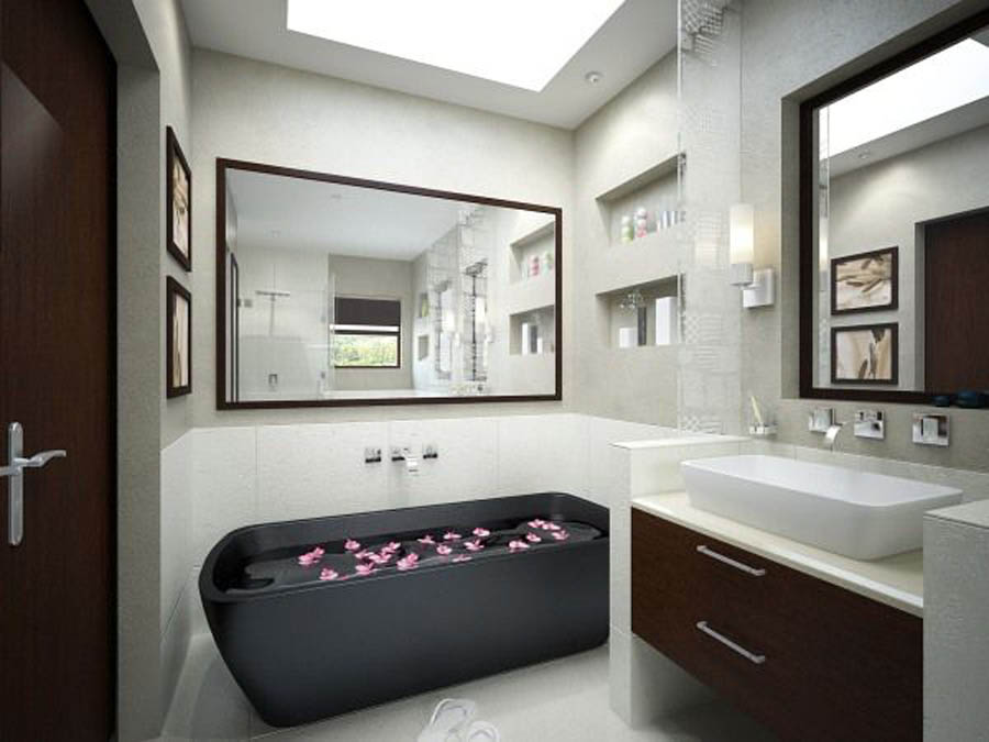 Retro Minimalist Modern Bathroom (Image 8 of 8)