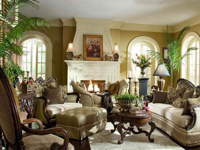 Attractive Living Room With Antique Furniture 1899
