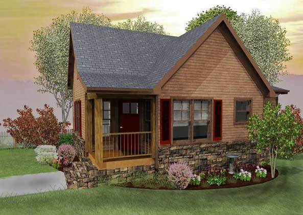 Rustic Small Cottage Design Floor Plans (Image 5 of 10)