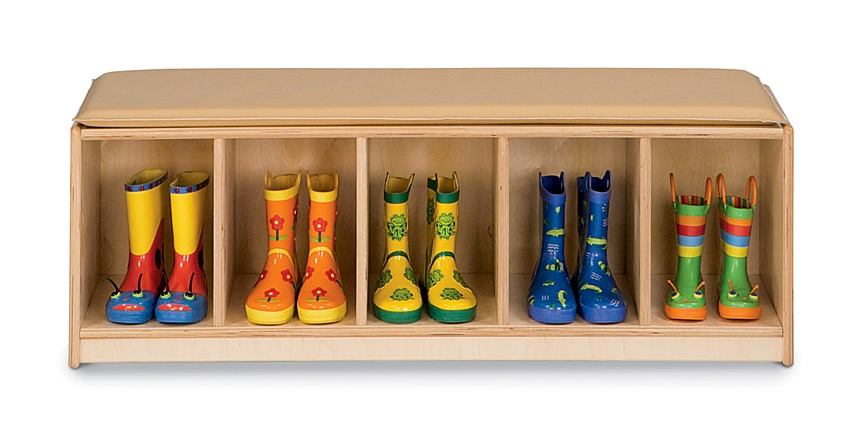 Shoe Storage Cubbies With Bench (Image 7 of 10)