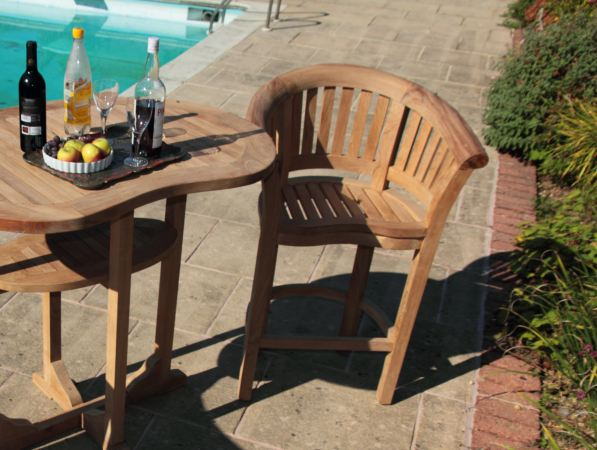 Simple Bar Chair For Comfortable To Sit Alongside A Swimming Pool (Image 6 of 8)