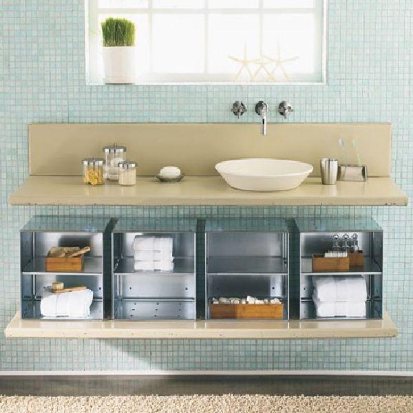 Simple Bathroom Storage Below Washbin (Image 5 of 8)