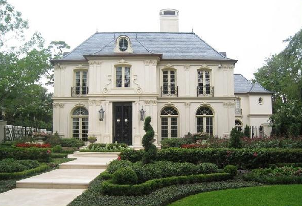 Simple Exterior Color French Home Design (Image 21 of 23)