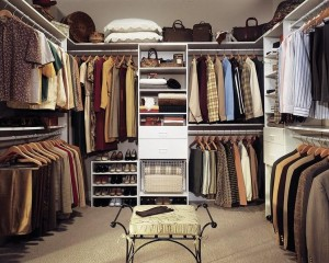 Simple Space Walk in Closets Designs