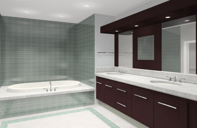 Small Space Modern Bathroom Design (View 7 of 8)
